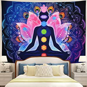 Hippie Chakra Tapestry Wall Hanging