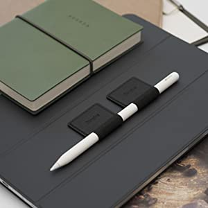 Ringke Pen Holder for Apple Pencil, Journal, Notebooks, and More - 3M Self Adhesive PU Leather
