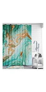 Uphome Marble Fabric Shower Curtain