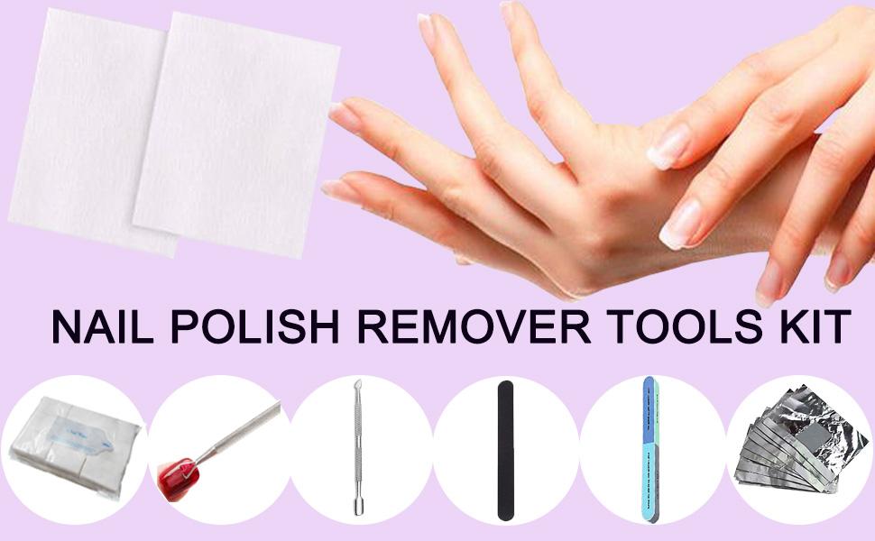 pedicure manicure tools,cuticle remover pusher spoon file buffer uv gel polish peeler tools cotton