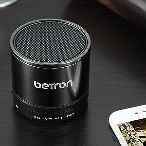 betron kbs08 titanium colour bluetooth speaker