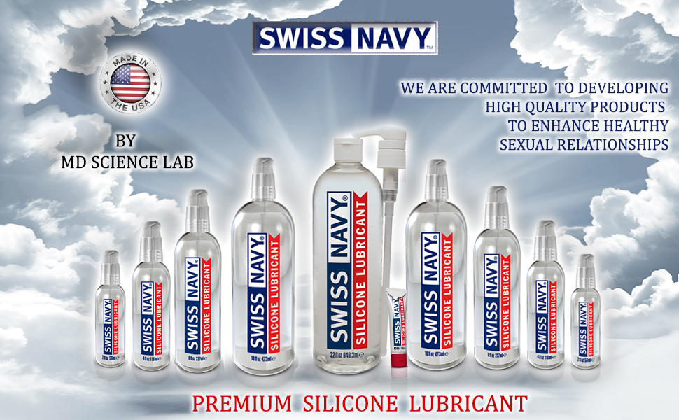 Swiss Navy Premium Silicone Lubricant, MD Science Lab