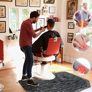 barber shop floor mat