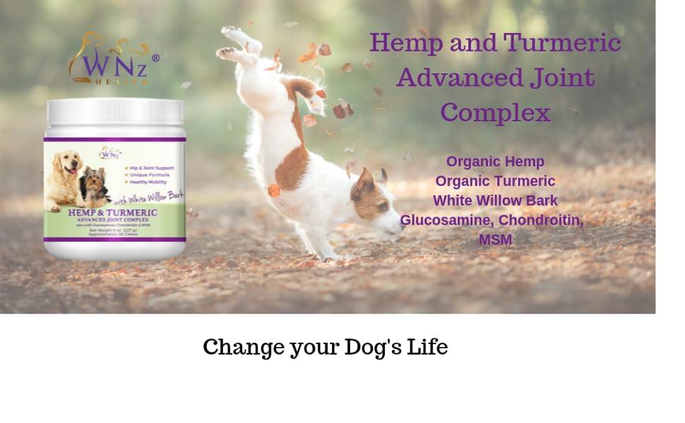 Hemp for dogs Arthritis turmeric anti inflammatory glucosamine chondrotin hemp oil
