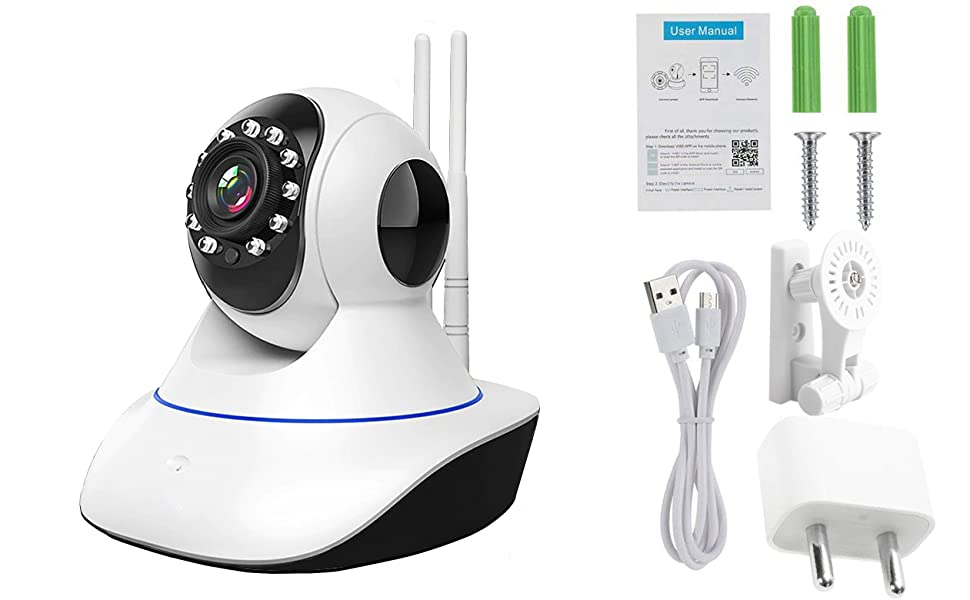 cctv camera full kit inbuilt micro sd card kit with hard disk for home office with monitor kam