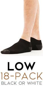 low socks mens men man dude guy guys black white sox cut height 13-15 9 10 11 shoe bulk pack set