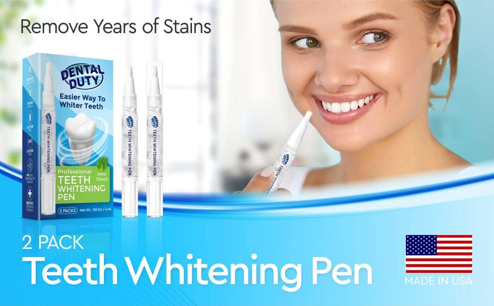 Amazon Com Dental Duty Teeth Whitening Pen 2 Pens 35