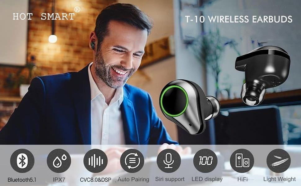 1 HOT SMART T-10, Earbuds
