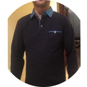 GHYUGR Polo para Hombre Mangas Largas Denim Costura Camisas ...