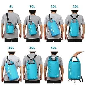 dry bags 5L 10L 20L 30L 40L