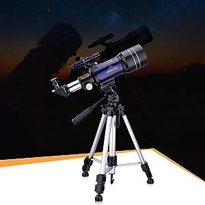 Telescope for Kid Astronomy Beginner Adult Starter aurora moon planets meteor scenery bird watching