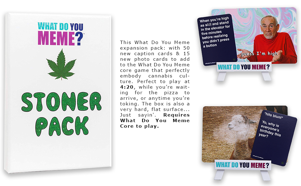 Stoner Expansion Pack Friends Package May Vary What Do You Meme Fun Card Game