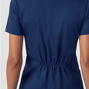 Goosuny Womens Workwear Tops Stretch Mock Wrap Shirt Short Sleeve V-Neck Mock Wrap Top Working Uniform Womens/_Scrub/_Top Nurses Scrubs/_Top Shirt Casual Fashion Working Uniform
