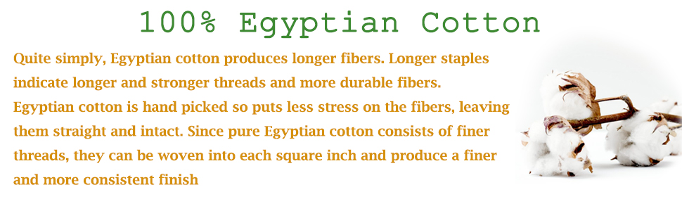 100% Egyptian Cotton