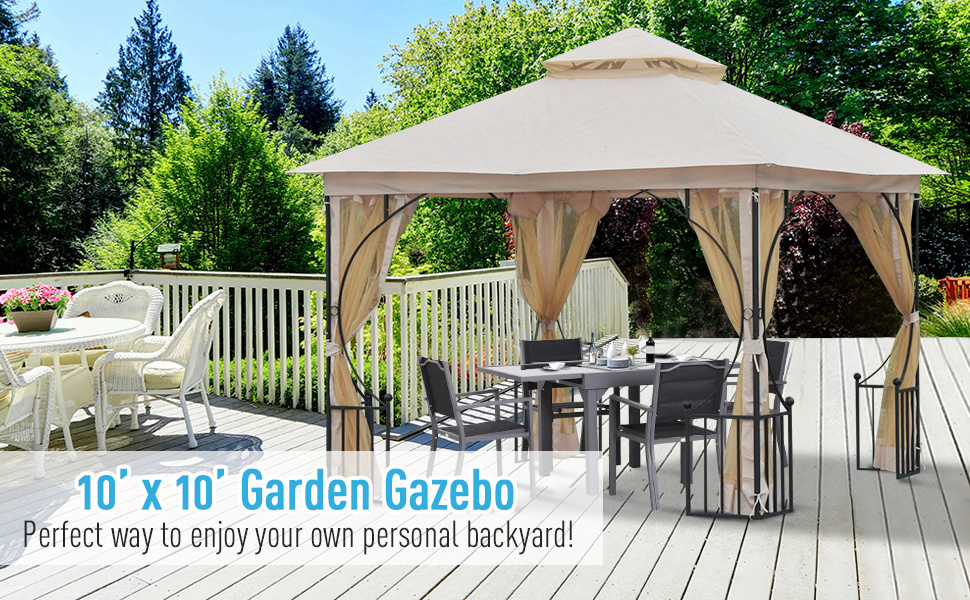 outsunny metal gazebo