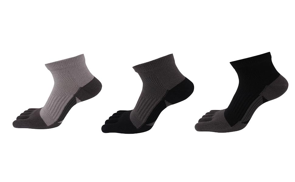 AIEOE - Pack de Calcetines de Dedos para Hombre Transpirable de ...