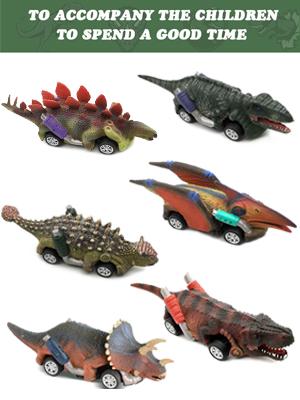 Pull Back Dinosaur Car Toys