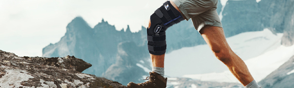 """timtakbo 16"""" tall hinged knee brace support wrap"""