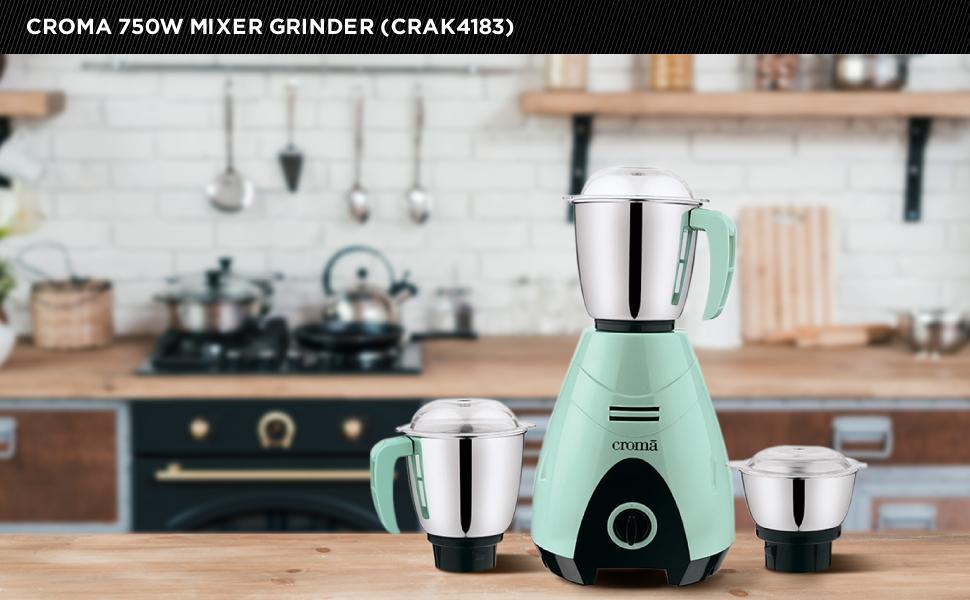 Croma 750W Mixer Grinder (CRAK4183)