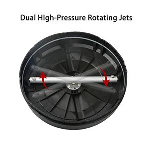 Dual High-Pressure Rotating Jets