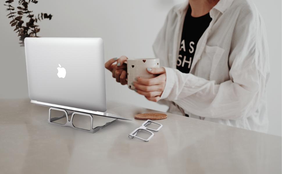 Support pour ordinateur portable en aluminium
