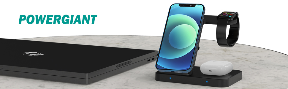 POWERGIANT 3 IN 1 WIRELESS CHARGING STAND - YOUR BEST CHOICE FOR CHARING PHONES