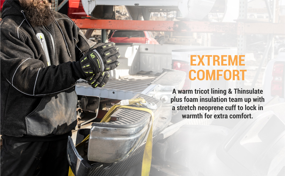 Built with a mitt design to trap extra body heat generated.