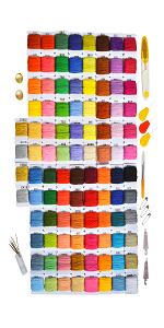 embroidery kit, floss, bracelets
