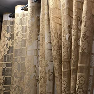 Heavy Tissue Net Door Curtains
