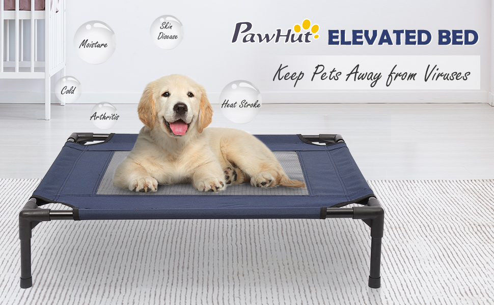 Elevated Pet Bed Dog Cat Cot Cozy Beds Camping Comfortable