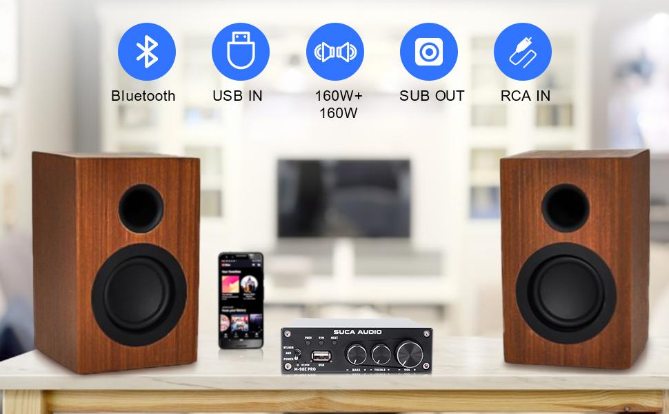 bluetooth home audio amplifier
