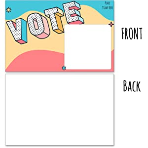 Blank back postcards to voters - voting cards usps friendly