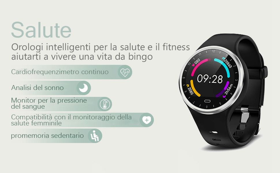 LHMZNIY Smartwatch Android iOS Orologio intelligente Fitness Tracker Uomo Donna Orologio Sportivo Cardiofrequenzimetro Impermeabile Pedometro IP67 Smartband Activity Tracker Cronometro