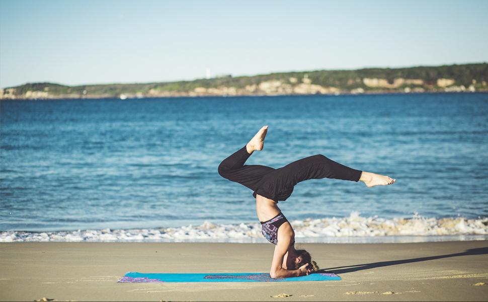 suede yoga mat