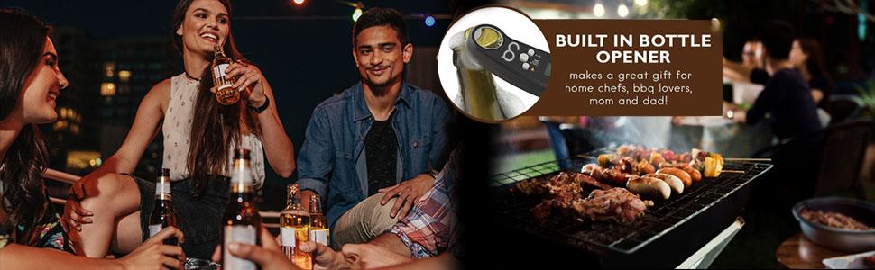 bottle opener digital food meat thermometer