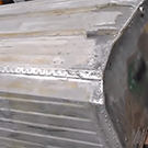 TotalBoat TotalFair Epoxy Fairing Compound applied to a properly prepared aluminum boat.