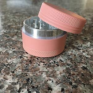 herb grinder light pink