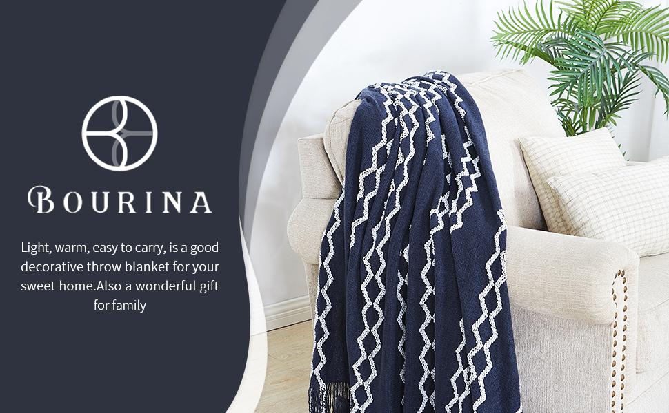 bourina chenille throw blanket