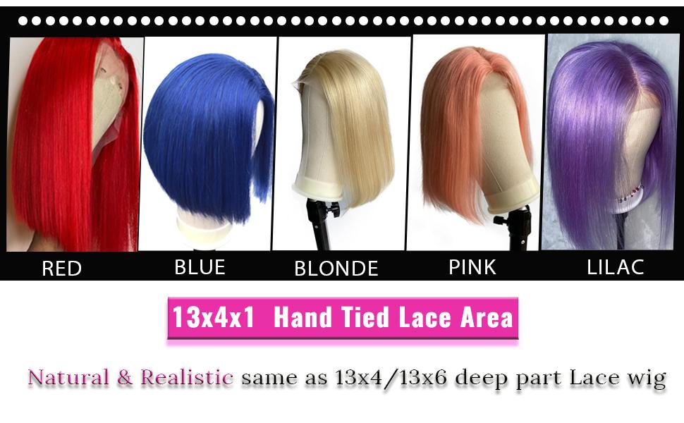 Lace Front Human Hair Bob Wigs