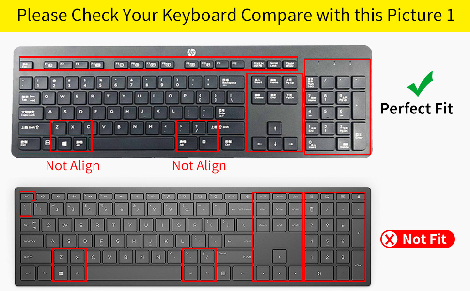 Keyboard Cover for HP EliteOne 800 G4 All-in-One PC(NOT for 800 G5)