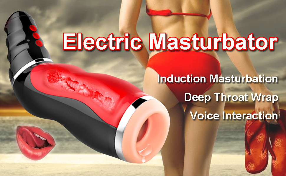 Male Masturbator Cup Electric Automatic Clamping Vibrating Various Girls Moans Stroker Masturbation