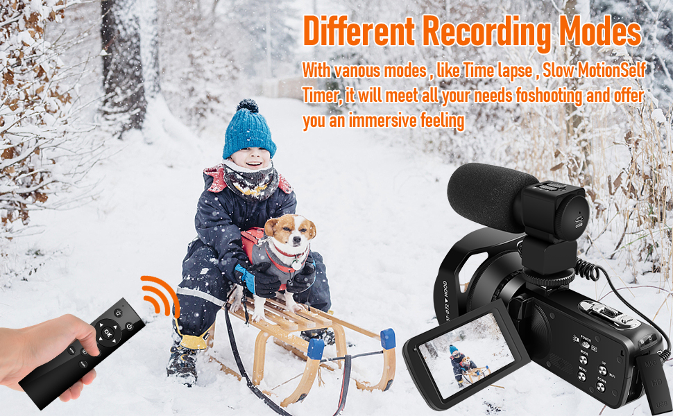 Flashandfocus.com 02782723-86d8-428e-9341-ab0f10aa1f02.__CR0,0,970,600_PT0_SX970_V1___ 4K Video Camera Camcorder with Microphone 30FPS 48MP Vlogging Camera with Rotatable 3.0 Touch Screen and Time-Lapse…