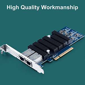 Amazon Com 10gb Pci E Network Card X540 10g 2t Dual Rj45 Copper Port Cna For Pc With Low Bracket 10gbe Converged Network Adapter Nic X540 Chipset Pci E X8 Computers Accessories
