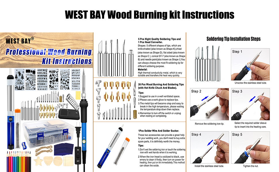 wood burning tool instructions