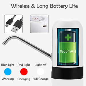 Mini Automatic portable bottle drinking Water Electric Pump USB Rechargeable water dispenser