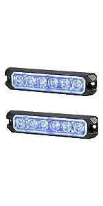 12V 24V surface mount LED blue strobe light