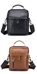 MANNUOSI Shoppers y bolsos de hombro piel autentica Bolsos para hombre