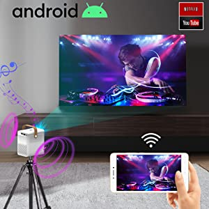 proyector portatil con android, proyector unicview, seelumen, yaber, bosnas, 4K nativo, 1080p nativo