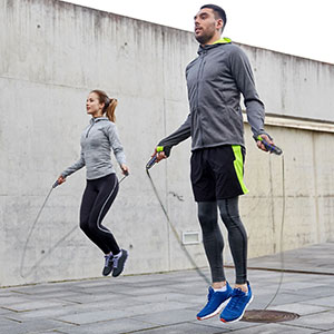 jump rope workout man