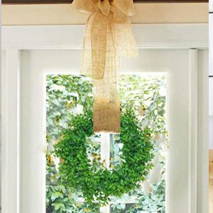 artificial green wreath for window indoor decor